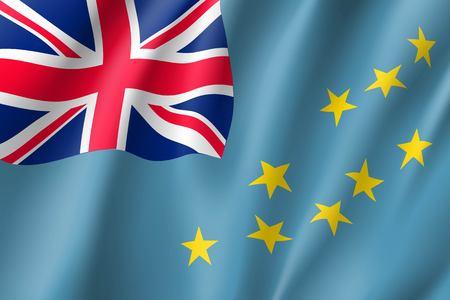 Waving flag of Tuvalu Illustration