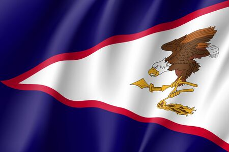 Waving flag icon. Illustration