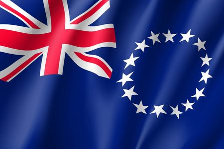 Waving flag of Cook Islands icon.