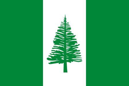 Flag Norfolk Island flat style