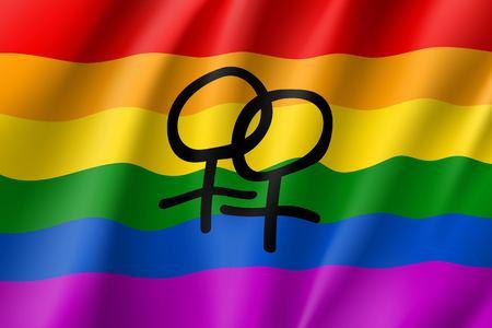 Rainbow waving flag movement lgbt Illustration
