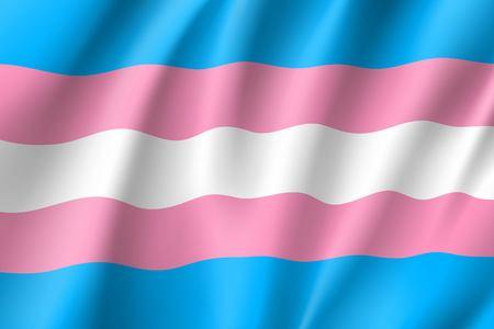 Transgender symbol movement vector illustration