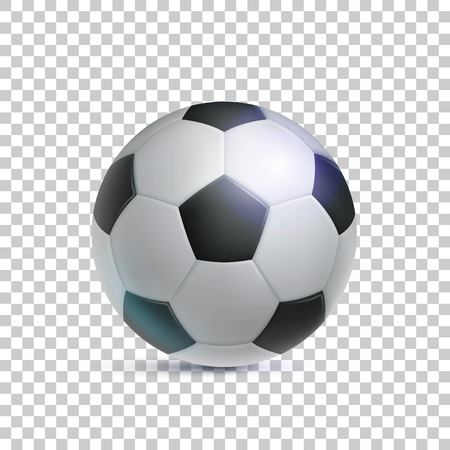 Klassieke voetbal, realistische, transparante achtergrond