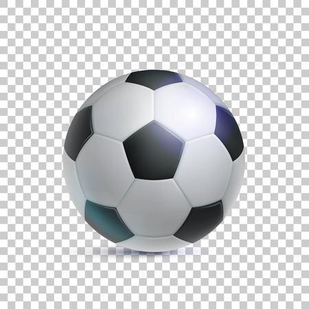 Klassieke voetbal, realistische, transparante achtergrond Stock Illustratie