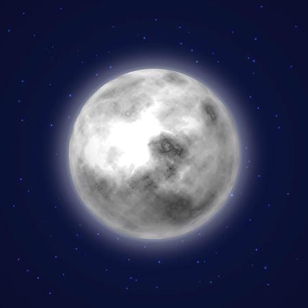 Planet moon background night sky cartoon style