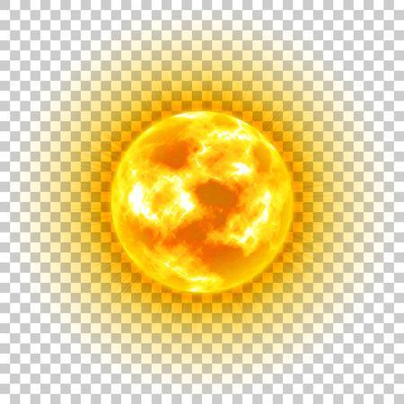 Sun, transparent background, heavenly body, cartoon, realistic