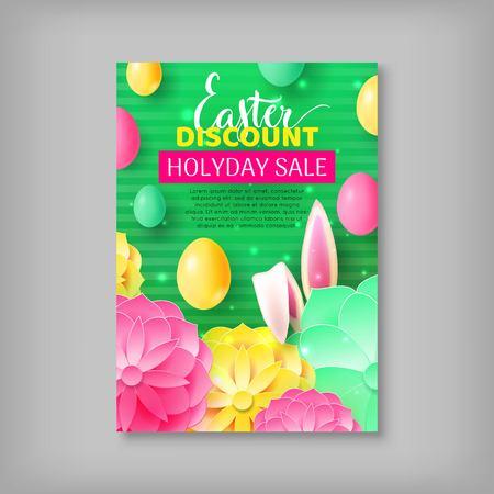Big discount banner sale easter Illustration