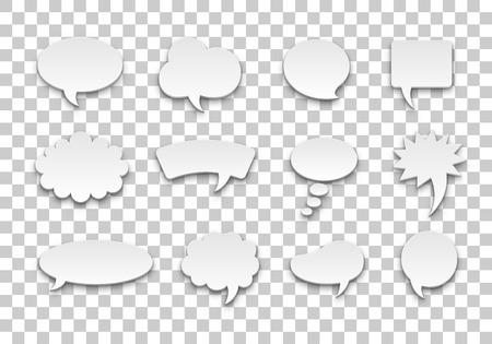 Speech bubble set volume transparent background