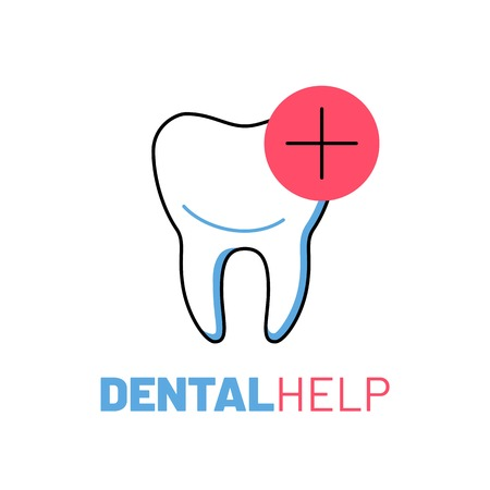 Professional dental help logo with tooth