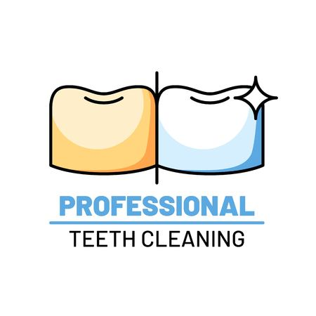 Professional teeth cleaning isolated logo Logo
