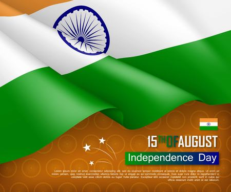 Festive illustration of independence day in India