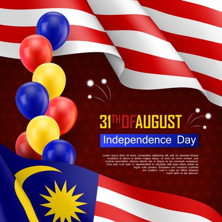 Happy Malaysian Independence day festive