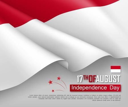 Illustration of Independence day of Indonesia