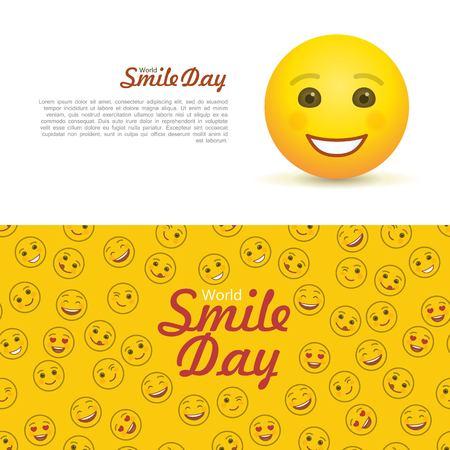 World smile day horizontal flyers