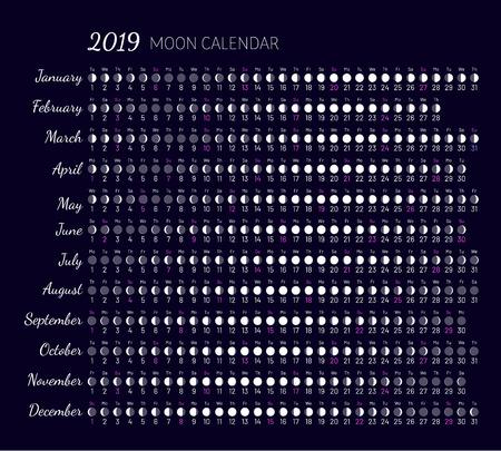 Moon illumination and moon age Reklamní fotografie