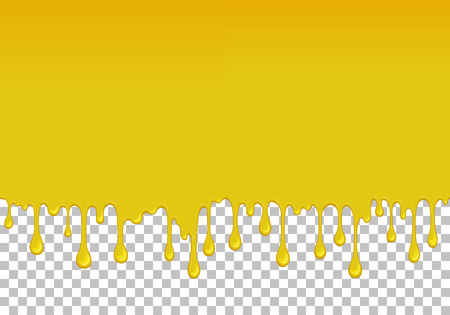 Yellow dripping slime seamless element 写真素材