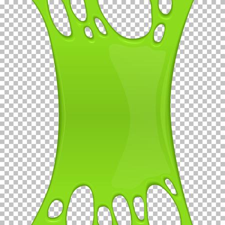 Bannière de slime collant vert avec espace de copie Banque d'images