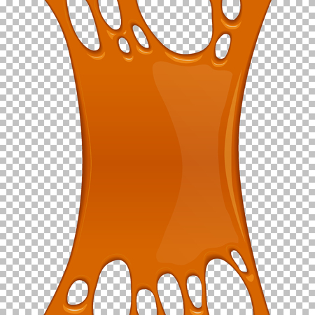 Orange sticky slime banner with copy space