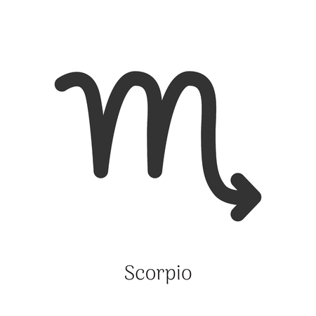 Scorpio zodiac sign isolated on white background