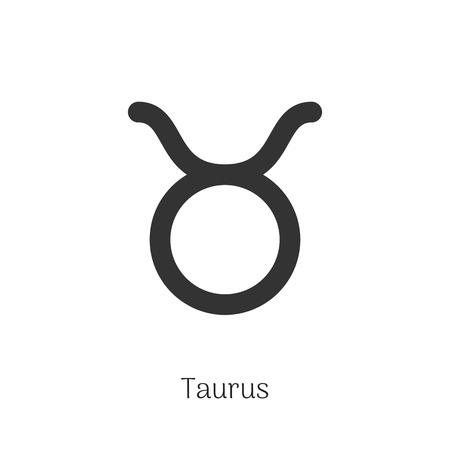 Taurus zodiac sign isolated on white background