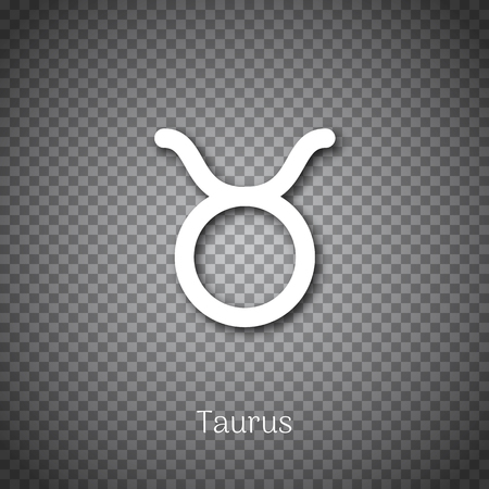 Taurus astrological symbol with shadow