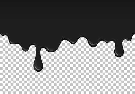 Black dripping slime seamless element