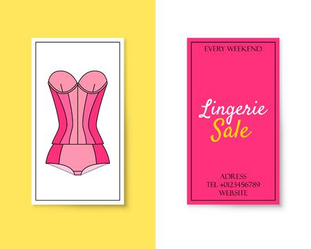 Price tag with romantic female wardrobe symbol Illustration