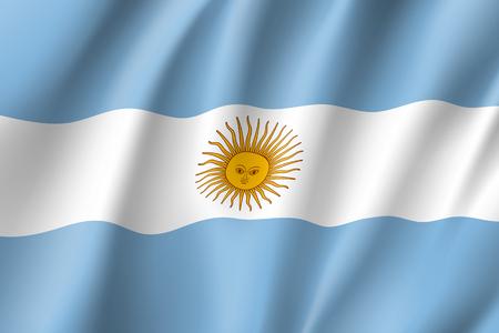 Wehende Flagge von Argentinien
