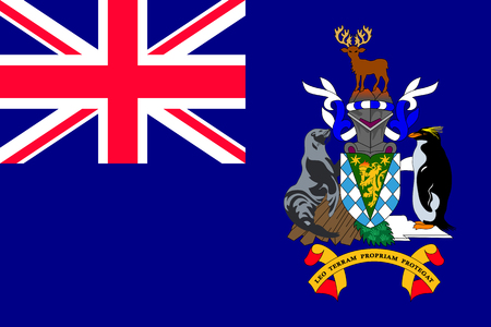 National flag of South Sandwich islands