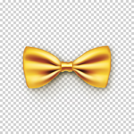 Stylish gold bow tie from satin Illustration