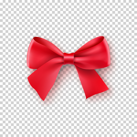 Fashionable red bow with ribbon