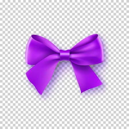 Fashionable violet bow with ribbon