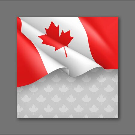 Canadian patriotic background with national colors 일러스트