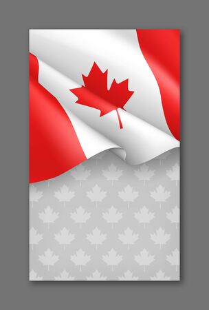 Canadian patriotic background with national colors Ilustração