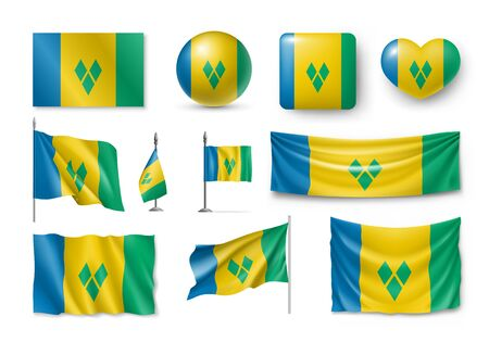 Various flags of Saint Vincent and the Grenadines