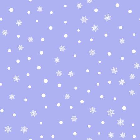 Disposition de modèle sans couture de flocons de neige vintage Vecteurs