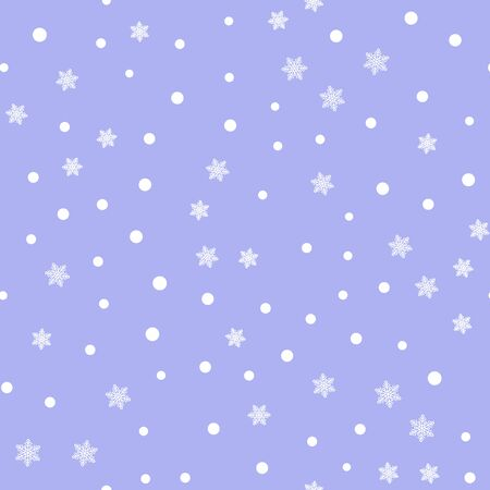 Vintage snowflakes seamless pattern layout