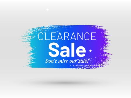 Clearance sale, dont miss our sale banner