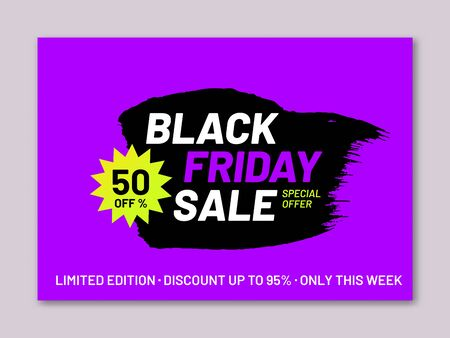 Black Friday sale promotion poster Ilustrace