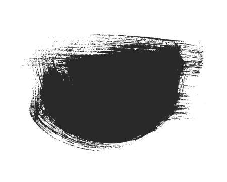 Black paintbrush stroke isolated on white Ilustrace