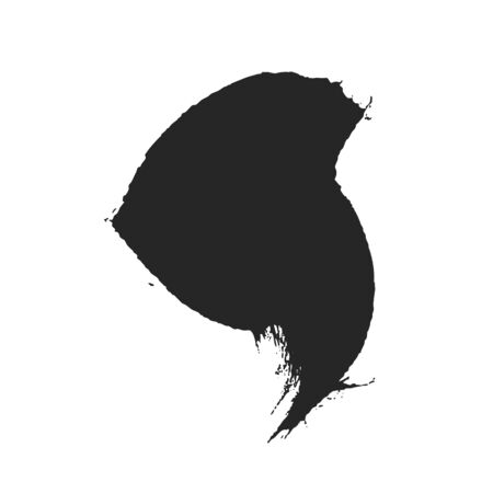 Black paintbrush abstract spot for creative design