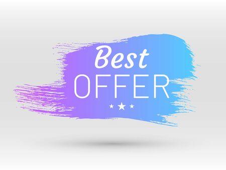 Best offer label in shape of paintbrush stroke Çizim