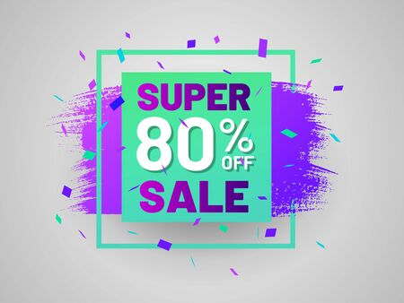 Super sale tag with square frame