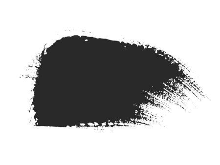 Black paint brush strokes set isolated on white