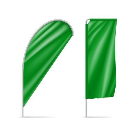 Green drop and rectangular flags