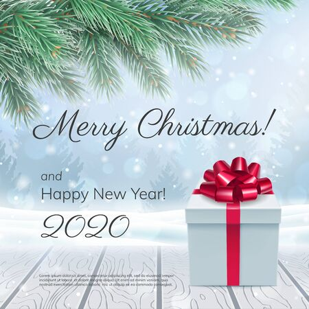 Merry Christmas and Happy New Year 2020 card Çizim