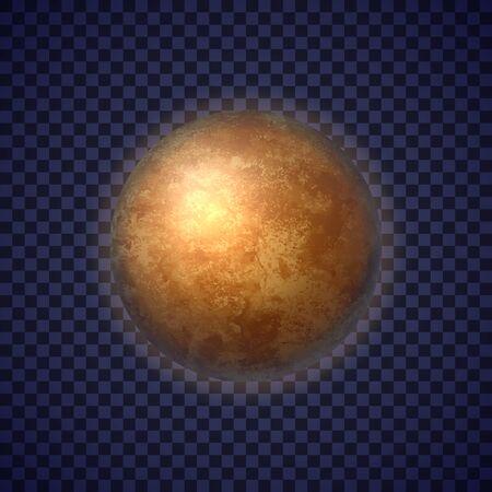 Mercury planet on deep blue space background Illustration