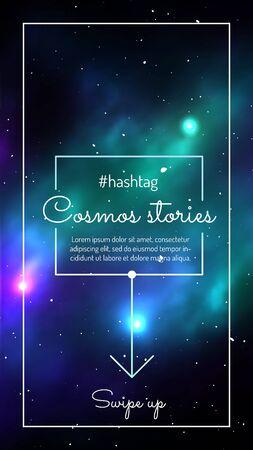 Cosmos stories mobile application design