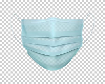 Protective medical face mask. Personal safety