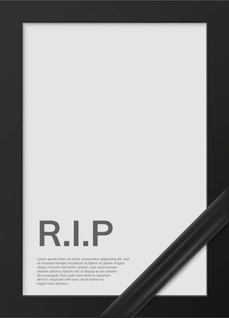 Blank mourning frame for sympathy card Illustration